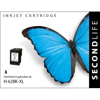 SecondLife HP 62 XL inkt cartridge zwart