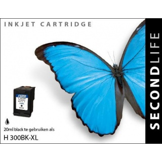 SecondLife HP 300 XL inkt cartridge zwart