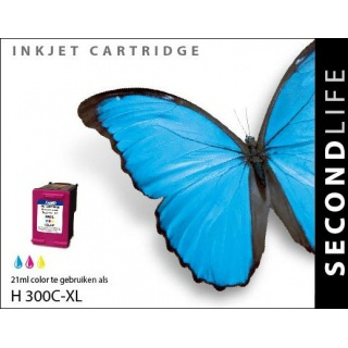 SecondLife HP 300 XL inkt cartridge Kleur