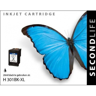 SecondLife HP 301 XL inkt cartridge zwart