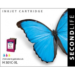 SecondLife HP 301 XL inkt cartridge kleur