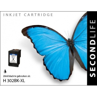 SecondLife HP 302 XL inkt cartridge zwart