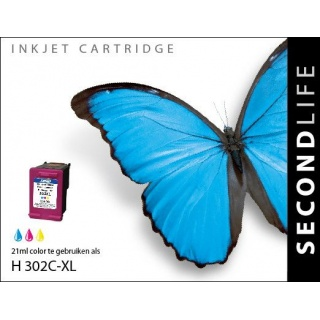 SecondLife HP 302 XL inkt cartridge kleur