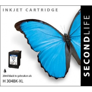 SecondLife HP 304 XL inkt cartridge zwart