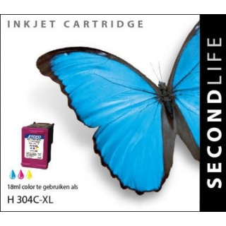 SecondLife HP 304 XL inkt cartridge kleur